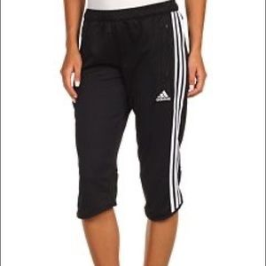 Black Cropped Capris Pants - Adidas